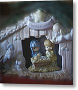 Christmas Nativity Scene Metal Print