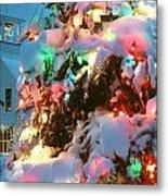 Christmas New Year Santa Claus Metal Print
