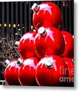 Christmas New York Style Metal Print