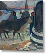 Christmas Night Blessing Of The Oxen Metal Print