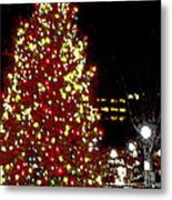 Christmas On Public Square Three Metal Print