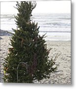 Christmas On The Beach 1 Metal Print