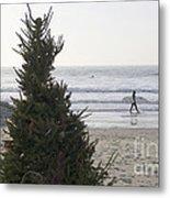 Christmas On The Beach 2 Metal Print