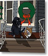 Christmas On The Front Porch Metal Print