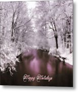 Christmas Pond Metal Print
