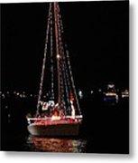 Christmas Sailboat Metal Print