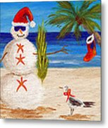 Christmas Sandman Metal Print