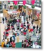 Christmas Shopping Metal Print