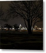 Christmas Skyline Metal Print