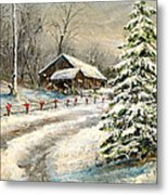 Christmas Snow Metal Print