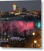 Christmas Spirit At Niagara Falls Metal Print