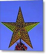 Christmas Star During Dusk Time Metal Print
