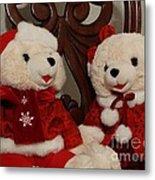 Christmas Time Bears Metal Print