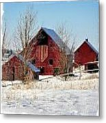 Christmas Time In Idaho Falls Metal Print