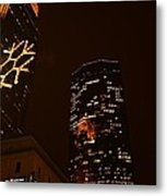 Christmas Time In The City Metal Print