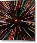 Christmas Tree At Warp Speed II Metal Print