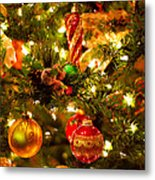 Christmas Tree Background Metal Print by Elena Elisseeva