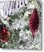 Christmas Tree Baubles Metal Print