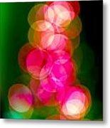 Christmas Tree Bokeh Background Metal Print