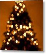 Christmas Tree Bokeh Metal Print