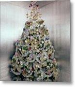 Christmas Tree Decorated By Gloria Vanderbilt Metal Print