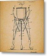 Christmas Tree Holder Patent 1927 Metal Print