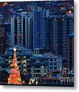 Christmas Tree In La Paz Metal Print