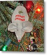 Christmas Tree Mouse Metal Print