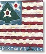 Christmas U.s.a. Metal Print