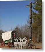 Christmas Wagon Metal Print