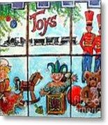 Christmas Window Metal Print by Linda Shackelford