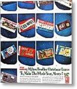 Christmas Wish List 1960 Metal Print