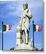 Christopher Columbus Baltimore  Statue Metal Print