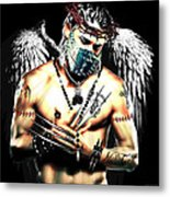 Christy Angel Mask Metal Print