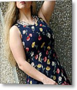 Christy Blue Minidress-40-2 Metal Print