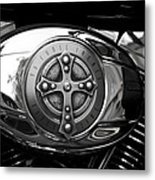 Chrome Cross - 96 Cubic Inches Metal Print