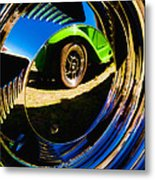 Chrome Hubcap Metal Print
