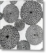 Chrysanthemums Metal Print by Japanese School
