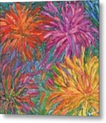 Chrysanthemums Like Fireworks Metal Print
