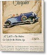 Chrysler 1928 1920s Usa Cc Cars Metal Print
