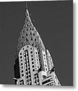Chrysler Building Bw Metal Print