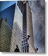 Chrysler Building From Below Metal Print