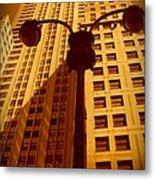 Rockefeller Building In Manhattan Metal Print