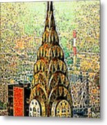Chrysler Building New York City 20130503 Metal Print by Wingsdomain Art and Photography