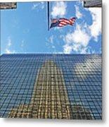 Chrysler Building Reflections Vertical 1 Metal Print