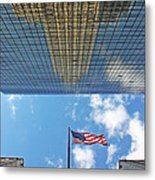 Chrysler Building Reflections Vertical 2 Metal Print