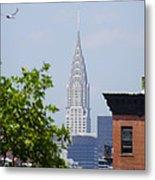 Chrysler Building View Metal Print