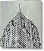 Chrysler Building Vintage Look Metal Print