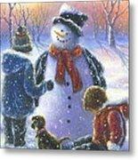 Chubby Snowman  Metal Print