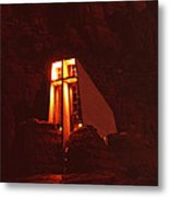 Chapel At Night Metal Print